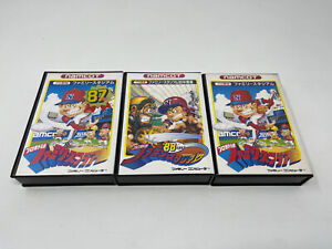 Famicom Baseball 3 x Game Bundle Boxed - UK SELLER