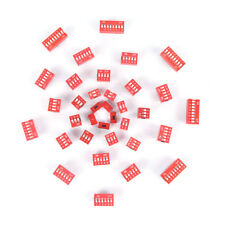 35PCS Dip Switch Kit 1 2 3 4 5 6 8 Way Toggle Switch Red Snap Switches EacRCUS