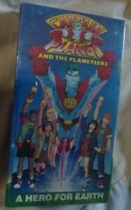 NEW Sealed VTG 1991 Captain Planet and the Planeteers ~ VHS ~ A Hero For Earth