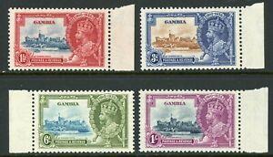 British 1935 Gambia KGV Silver Jubilee Scott 125-128 MNH Y251 ⭐⭐⭐⭐
