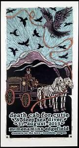 Death Cab for Cutie Poster McMenamins '13 Signed Silkscreen Gary Houston S/N/COA