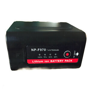 7800mAh NP-F970 Battery For Sony Cameras NP-F550 Compatible With Led Video Light