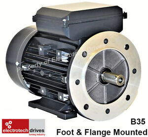 Single Phase, 240V Electric Motor, foot flange and face options 1400rpm 2800rpm