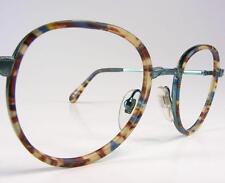 WILD Navy Teal Tortoise Bogart Vtg Eyeglass Frames NOS Retro Zyl Inserts 51 eye