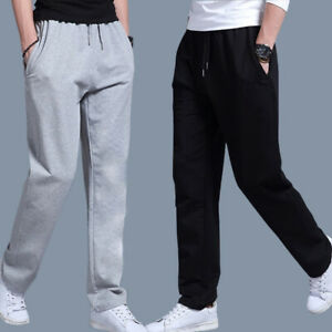 Men's Tracksuit Sport Gym Loose Fit Jogging Pants Workout Trousers Sweatpants
