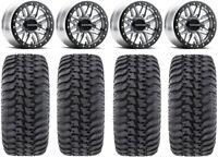 "Raceline Ryno Bdlk 14"" Mh Wheels 30"" Regulator Tires Kawasaki Mule Pro FXT"
