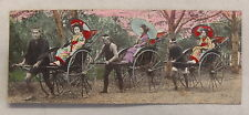 Kuriose Ansichtskarte Japan Frauen in Rikscha 1909 Marine Schiffspost Nr. 20 xz