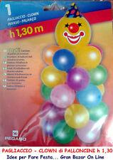 PALLONCINI KIT COLONNA CLOWN 130 cm con ACCESSORI FESTA PARTY ANIMAZIONE