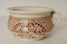 Antique John Meir & Son Brown and White Pattern Chamber Pot