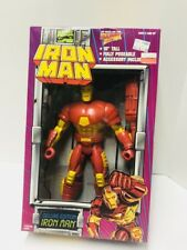 """1994 Iron Man 10"""" Deluxe Edition action figure Toy Biz Marvel Action Hour Sealed"""