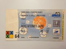 TICKET MATCH COUPE DU MONDE FIFA FRANCE 98 / FRANCE - BRESIL FINALE W.C