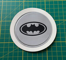 Silver Plastic Self Cling Tax Disk and Parking Permit Holder BATMAN logo