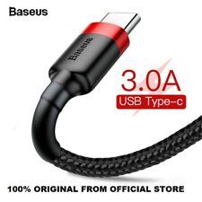 Baseus USB To Type C 3A Fast Charging Data Cable Lead For Samsung LG Huawei