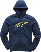 Youth Ageless Zip-Front Hoody Alpinestars M Navy/Hi-Vis Yellow3038530107055L