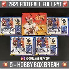 5 HOBBY BOX PYT - 2021 CONTENDERS DRAFT PICKS NFL FOOTBALL BREAK & 2021 SCORE