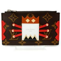 Authentic Louis Vuitton Coin Purse Pochette Cles Tribal Mask 822046