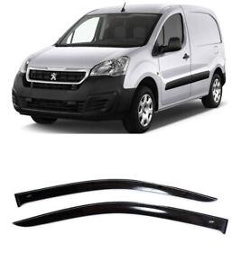 For Peugeot Partner 2009-2018 Window Visors Side Sub Rain Guard Vent Deflectors