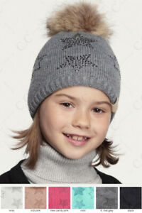 ScarvesMe C.C Children Kids Girl Boy Ages 2-9 Star Rhinestone Knit Hat Beanie