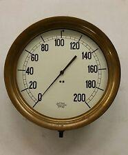 Vintage 14 Inch Diameter Pressure Guage By Jas. P. Marsh