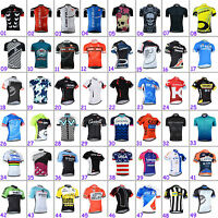 New Mens Cycling Tops Uniforms Short Sleeve Jersey Bike Riding Shirt Maillots