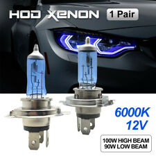 H4 HEADLIGHT GLOBES CAR LIGHT BULBS 6000K 100/90W 12V XENON SUPER WHITE (1 Pair)