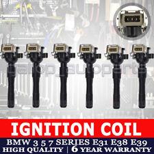 Set of 6 Ignition Coils for BMW 3 5 7 Series E31 E38 E39 E46 E52 E53 M5 X5 Z8