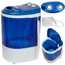Compact Portable Washing Machine 9lbs Semi-Automatic Washer w/ Inlet Hose, BLUE