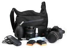 Black/Orange Satchel/Messenger Bag Case for Panasonic Lumix G DMC-GX80 Camera