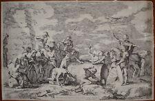 stampa antica old print Salvator Rosa Attilio Regolo 1662 Roma old master