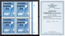 SBZ 1948 Mi.189c Viererblock VB postfrisch geprüft Attest Ruscher BPP ex 182-197