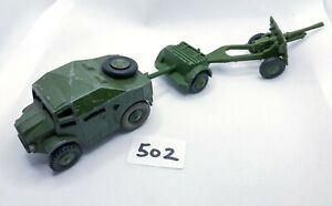 DINKY TOYS #697 ARMY SET 25 POUNDER FIELD ARTILLERY TRACTOR LIMBER & GUN DIECAST