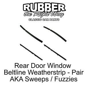 1984 - 1996 Jeep Rear Door Window Beltline Weatherstrip Kit - 4 pc.