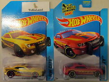 Tokaland Hot Wheels 2014 42/250 Yellow & Red HWFD Fire Dept '10 Camaro SS Set