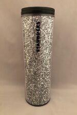 Starbucks Sparkles Silver Glitter Acrylic Tumbler 16 Oz 2018. BPA Free