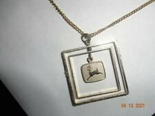 Gold John Deere Necklace