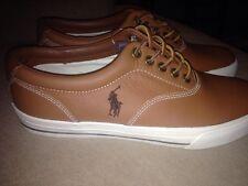 Polo Ralph Lauren 8D Mens VAUGHN Tan Soft Leather Shoes NEW w/o Box - Size 8D