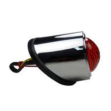 Rundes LED Motorradrücklicht Fender Brems und Rücklicht Classic Style chrom rot