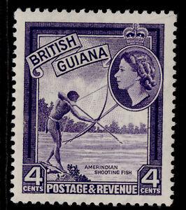 BRITISH GUIANA QEII SG334, 4c violet, M MINT.