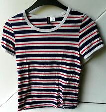 DIVIDED Shirt Damen- Mädchenshirt Shirt Baumwolle Elasthan gestreift Gr. XS