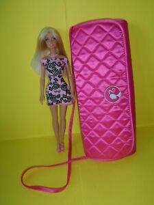 barbie con borsetta guardaroba armadio portatile borsa originale raso rosa  doll