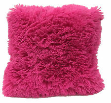 Super Soft Faux Fur Decorative Throw Pillow Cushion Available in Multiple Colors