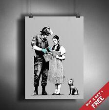A3 Banksy wizard of oz dorothy Poster Graffiti Street Art Mural Imprimé Photo fan