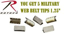 """5 Web Belt Buckle Tips For 1.25"""" Military Web Belts Rothco 4070 - 4071 - 4072"""