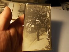 1912 Snapshot Photo, King George & Queen Mary In Parade, Winchestor, England