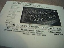 1975 advert the house of macpherson pipe bands edinburgh