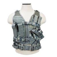 Ncstar CTVC2916D Children Size Tactical MOLLE X-Draw Combat Assault Vest - ACU