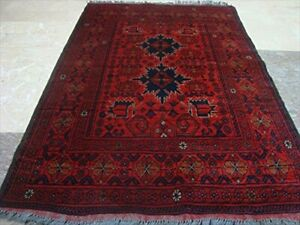 Exclusive Khal Muhamadi Fine Afghan Hand Knotted Area Rug Wool Carpet (5 x 3)'