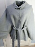 STELLA MCCARTNEY Grey Oversize Cape Coat Jacket US Size 4 Relaxed Fit Quirky