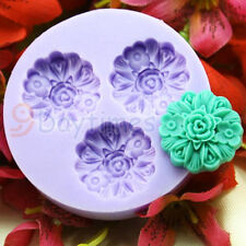 Flower Silicone Mold Mould For Chocolate Polymer Clay Fimo Crafts 25mm A166
