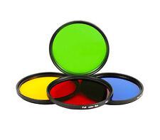 4 in 1 Effektfilter Set Farbfilter 49 mm für Objektiv + Tasche